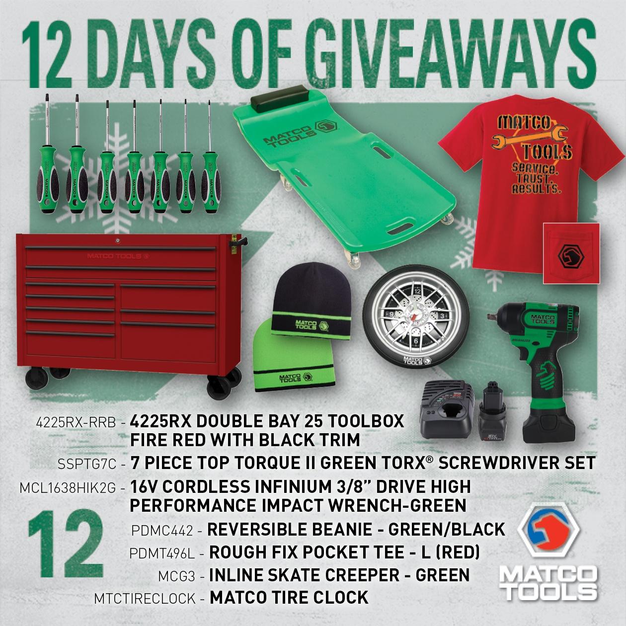 Matco tools giveaway